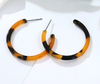 Tiger Hoops - Printed Hoop Earrings