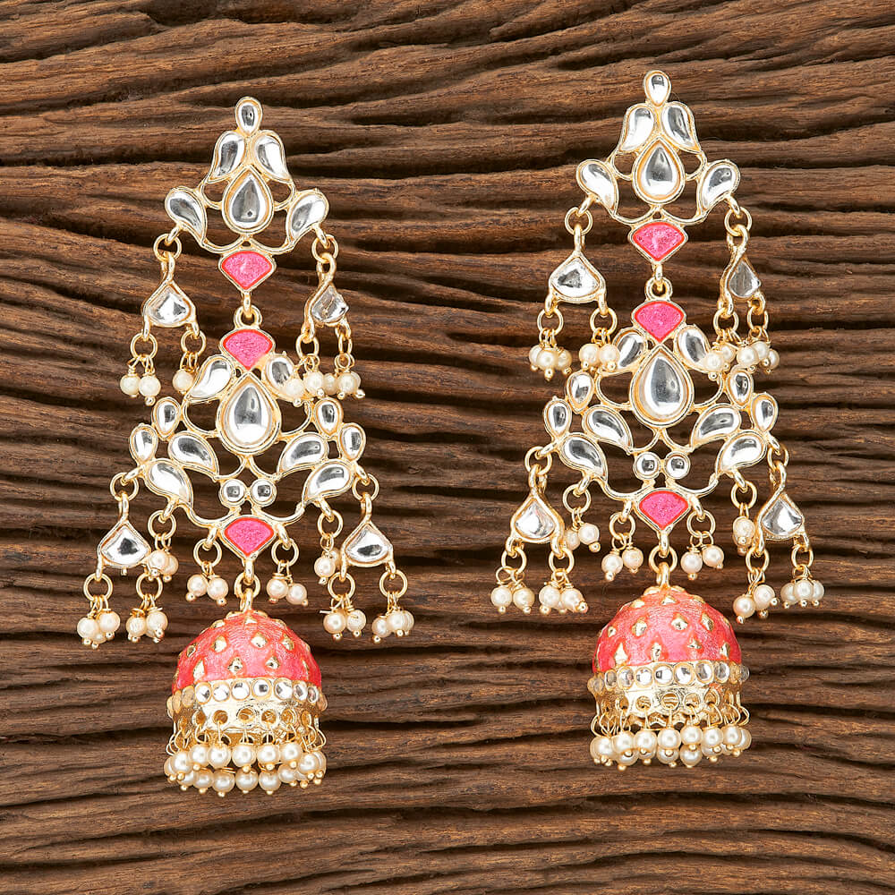 Trishala Earrings - Long Beaded Indian Earrings