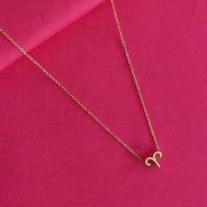 Aries Zodiac Necklace - Golden Metal Charm Dainty Necklace