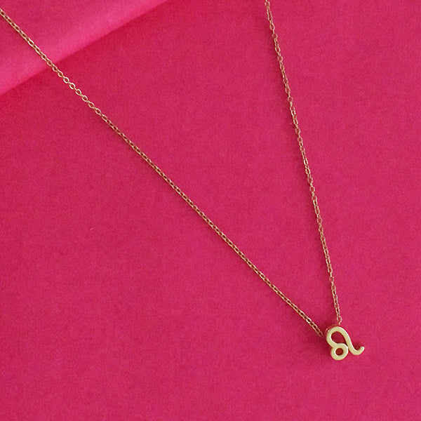 Leo Zodiac Necklace - Golden Metal Charm Dainty Necklace