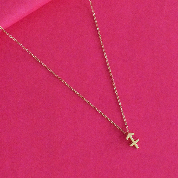 Sagittarius Zodiac Necklace - Golden Metal Charm Dainty Necklace