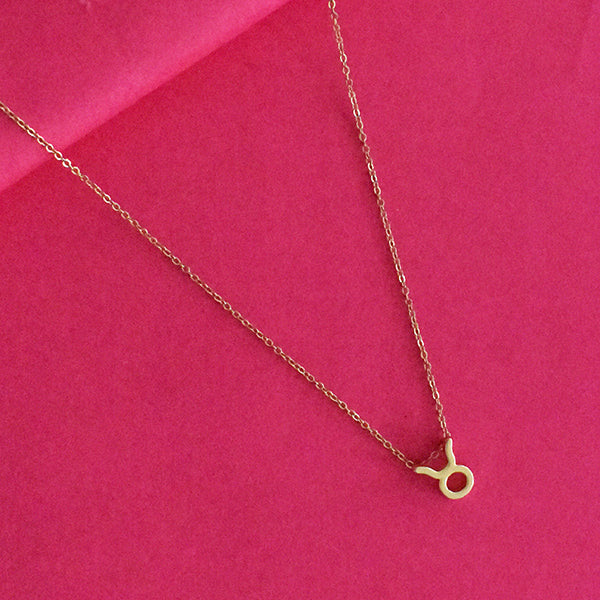 Taurus Zodiac Necklace - Golden Metal Charm Dainty Necklace