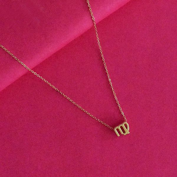Virgo Zodiac Necklace - Golden Metal Charm Dainty Necklace