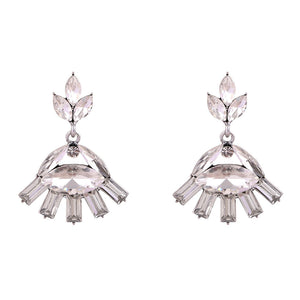 Crystal Eyes - Delicate Crystal Eye Earrings