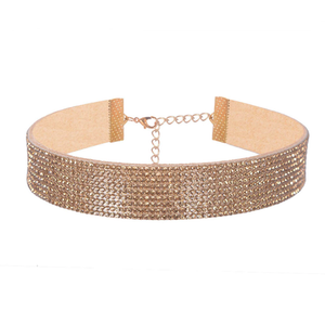 Champagne Diamond - Studded Shiny Choker