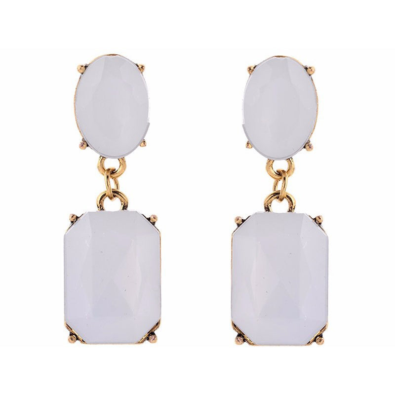 Dew Drops - Dainty Opal Crystal Drop Earrings