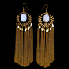Dewy Drops of Venus - Metal Tassel Earrings
