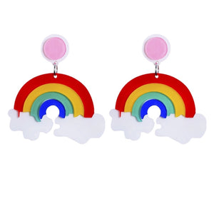 Rainbow - Acrylic Earrings