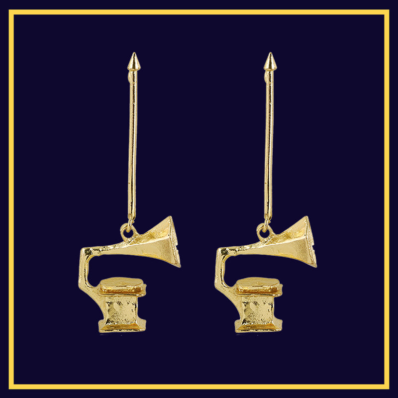 Jazzmatazz - Gramophone Statement Earrings