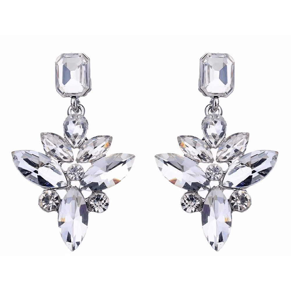 Sorceress - Clear Crystal Earrings