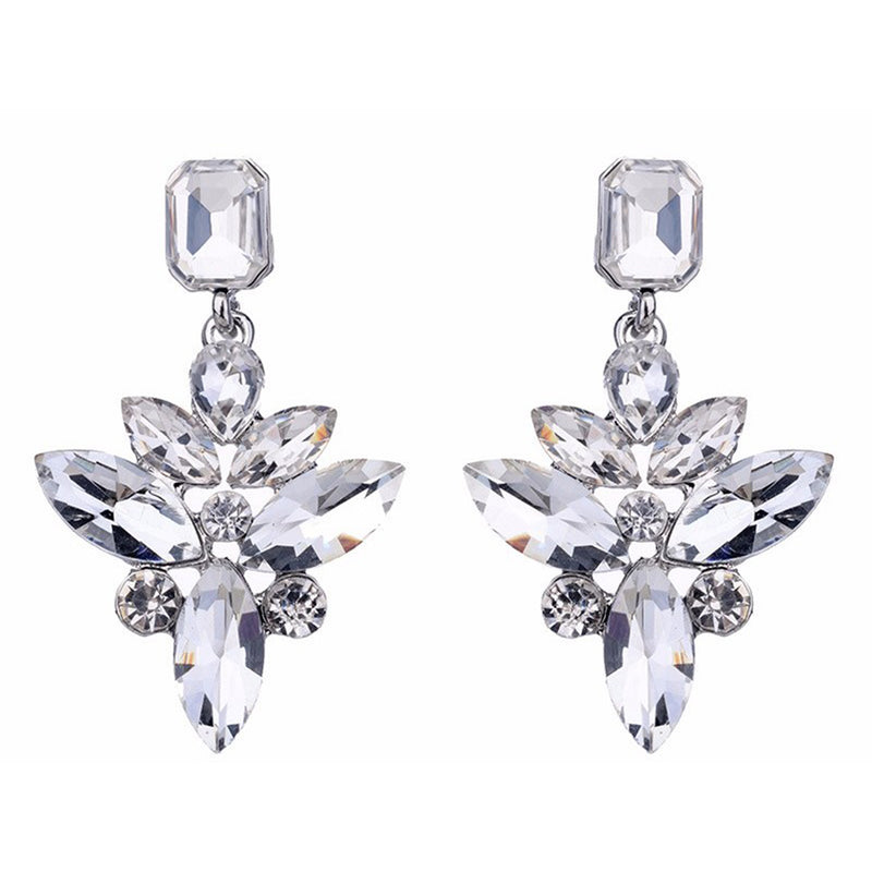 Sorceress - Delicate Clear Crystal Drop Earrings