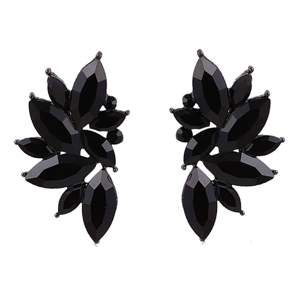 Maleficient Black Wings -Stone Earrings
