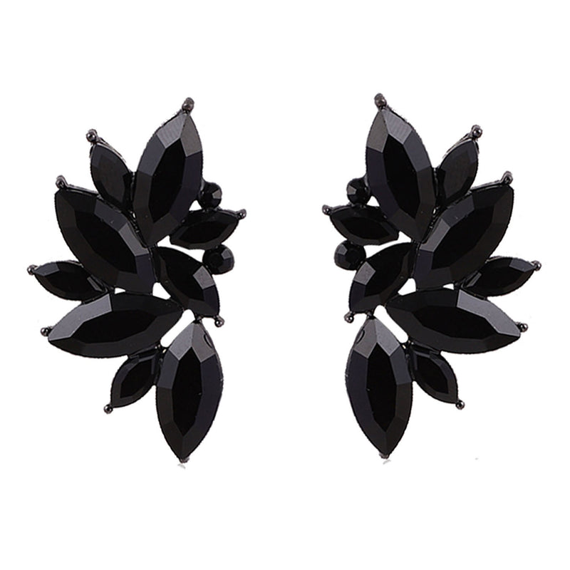 Maleficient Black Wings -Crystal Stone Wing Earrings
