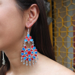 Malhaar - Coloured Indo Western Earrings