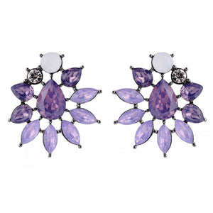 Meteor Rush - Delicate Lavender Stone Crystal Earrings
