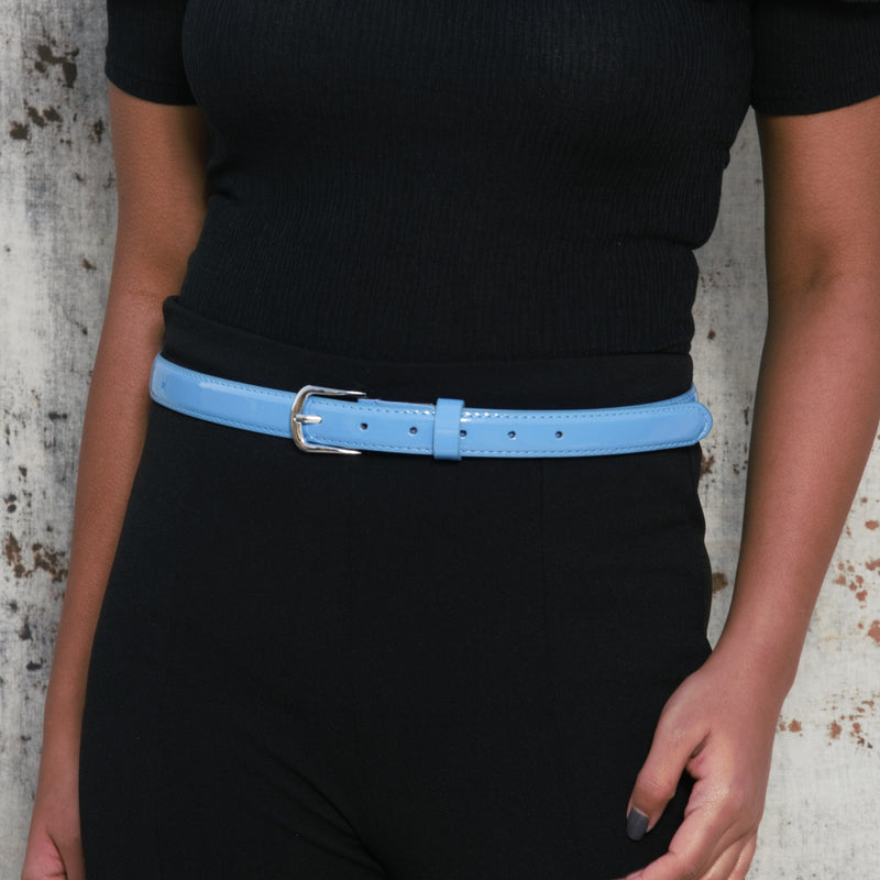 Cerulean Craze - Fun Popping Belt With Metal Buckle