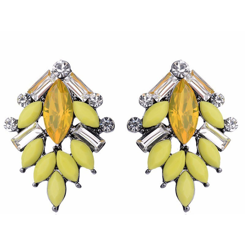 Perch Lemon -Delicate  Stone Earrings