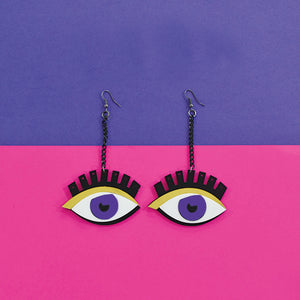ThatBohoGirl In Knick Knack Nook All Eyes On You Earrings - Quirky Acrylic Earrings