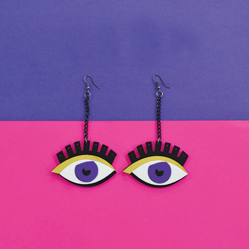 ThatBohoGirl's All Eyes On You - Quirky Acrylic Earrings