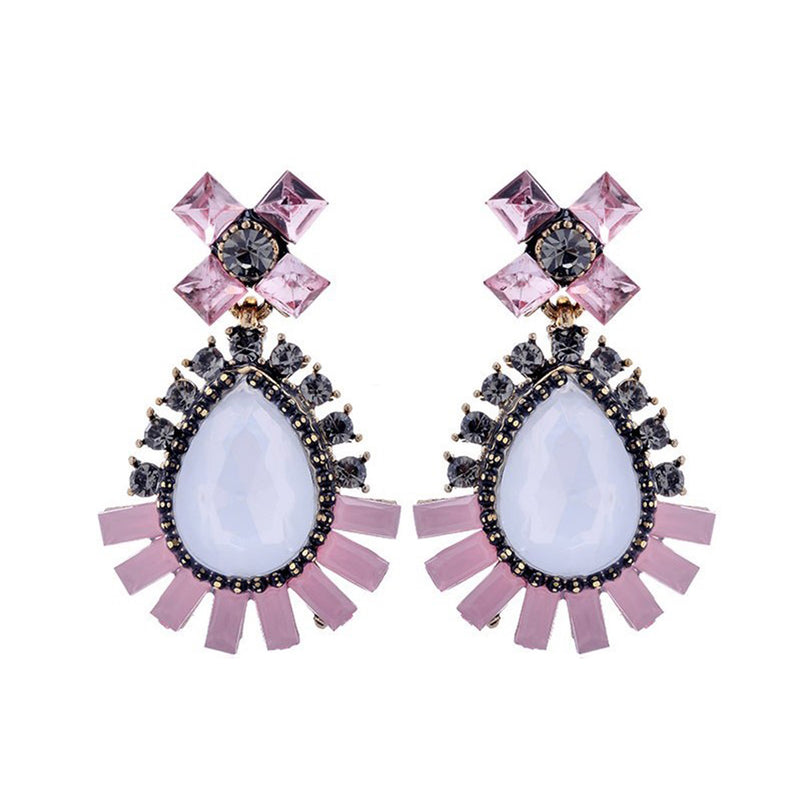 Radiant in Pink - Crystal Earrings