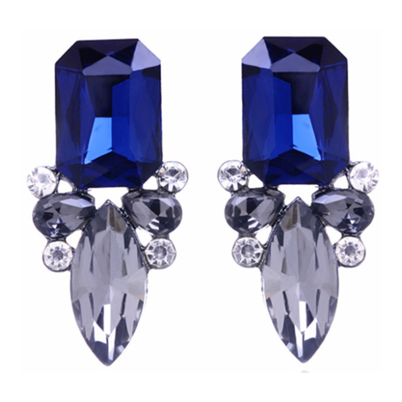 Sapphire Glow  - Blue Crystal Drop Earrings