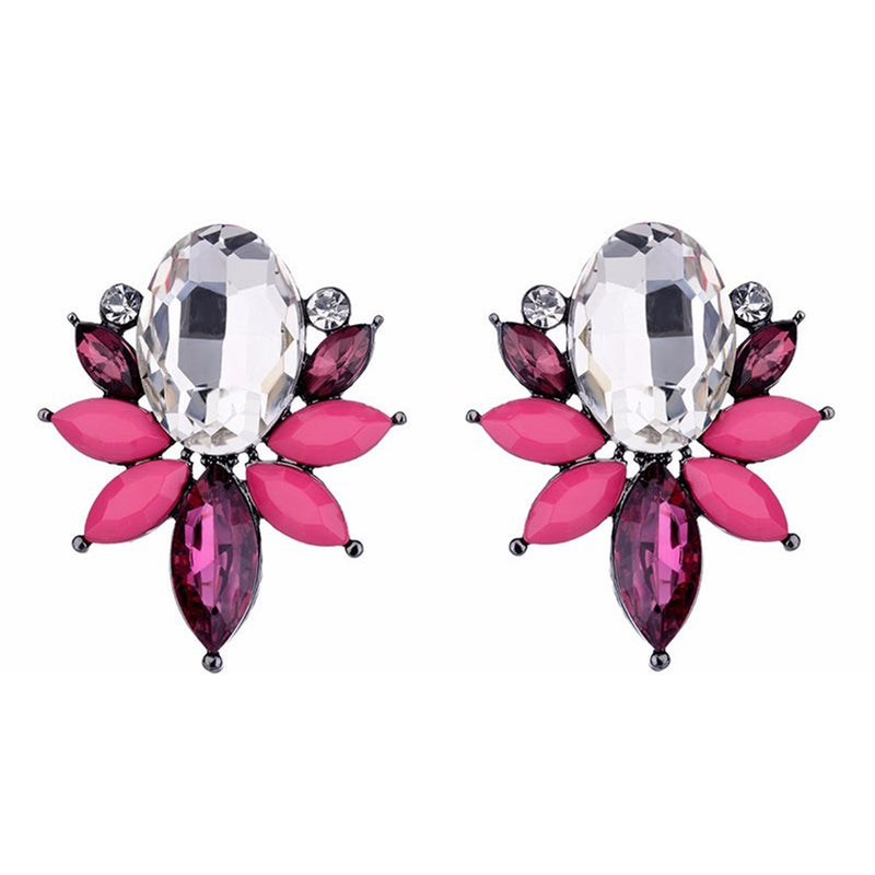 Something Fishy - Fuschia - Crystal Earrings