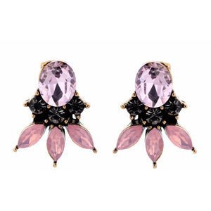 Trinity - Flora - Crystal and Stone Earrings