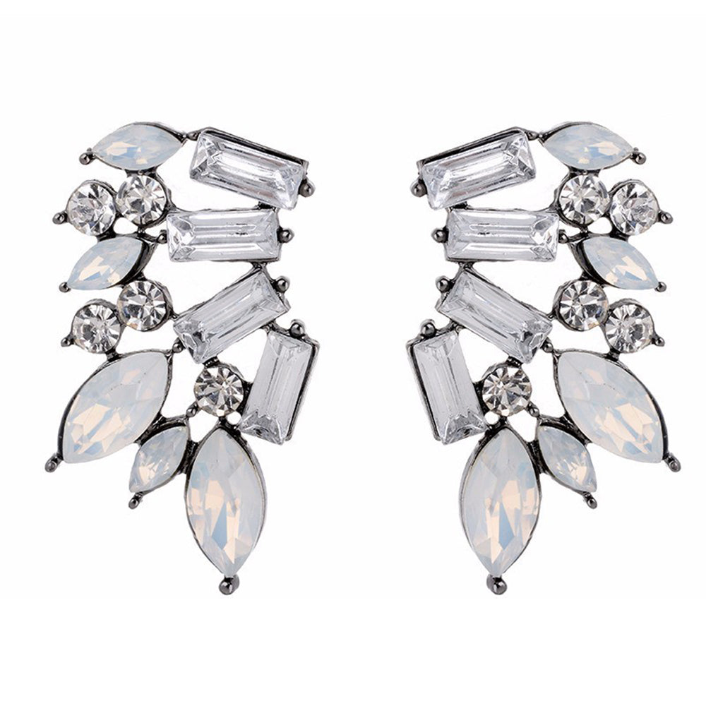 Wings of Ice - Clear Stone Earrings