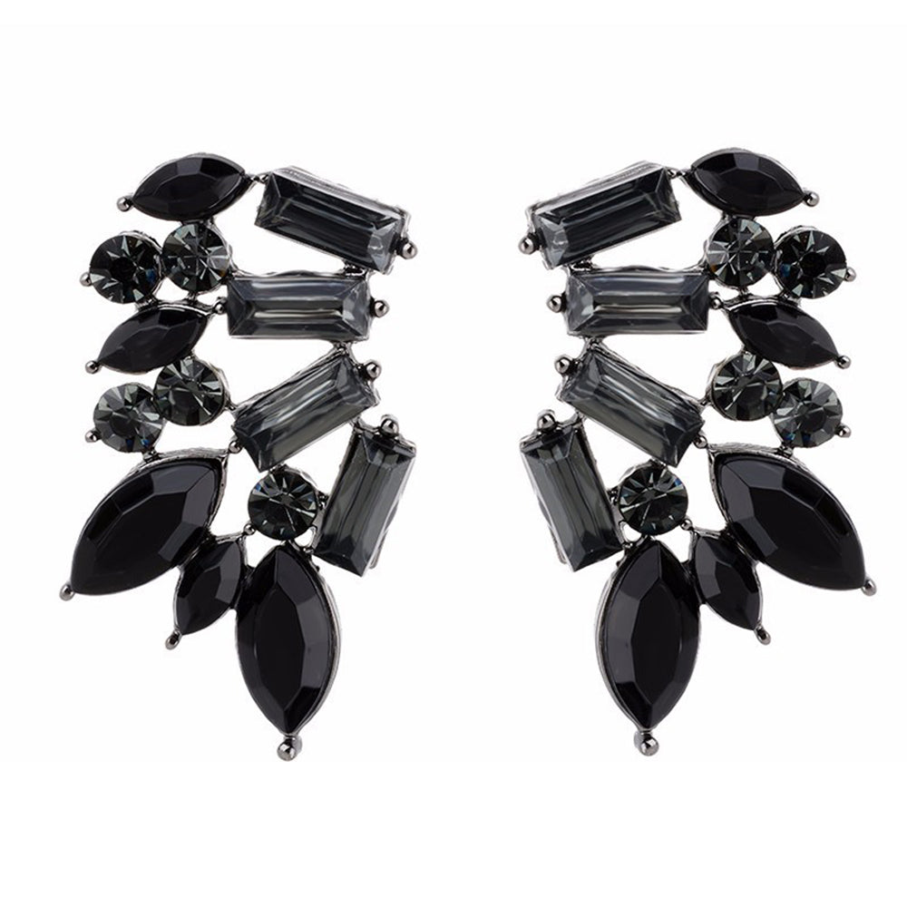 Wings Of Smoke - Black Stone Earrings