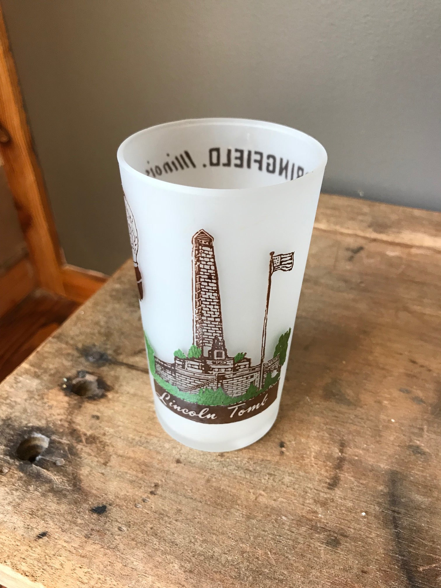 """illinois"" state drinking glass"