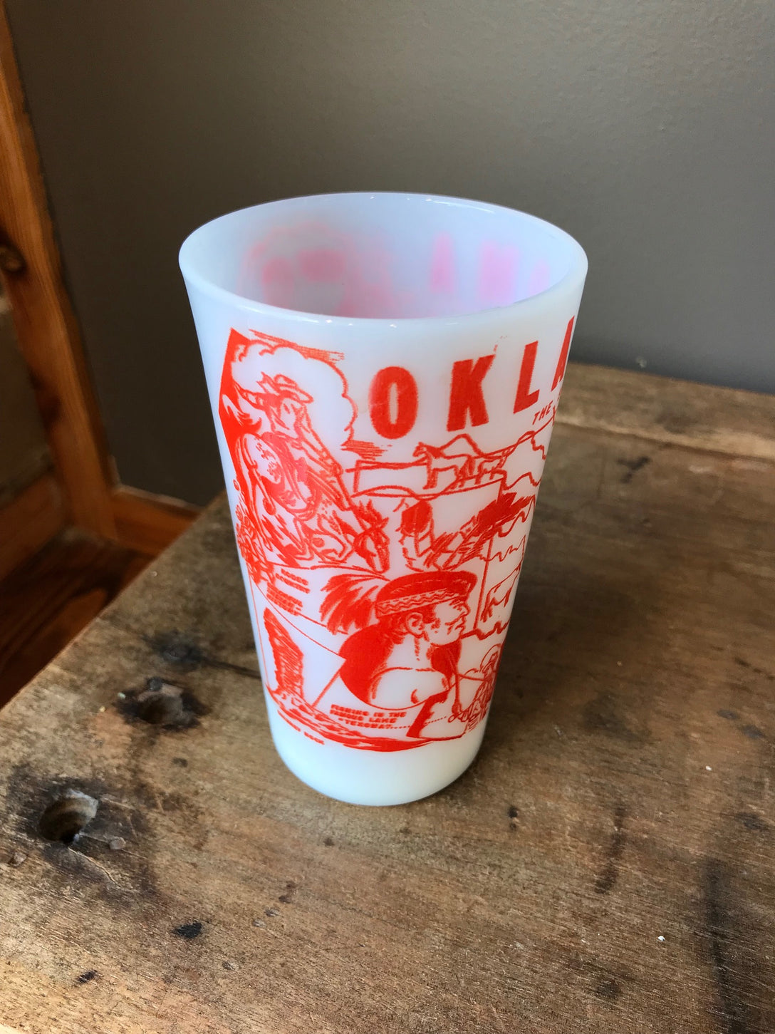 """oklahoma"" state drinking glass"