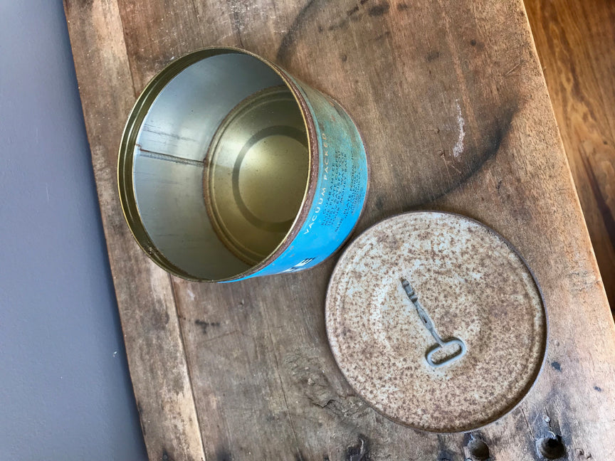 Blue Plate coffee tin