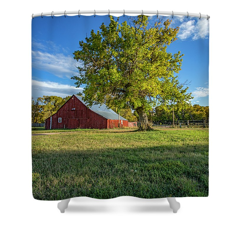Archies Barn Shower Curtain