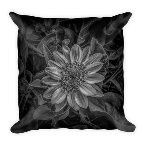 Black and white flower standard art print mark cooper black and white flower throw pillow mightylinksfo