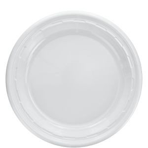 "Dart 10PWF - 10"" White Plastic Plate - Case - Thebestpartydeals"