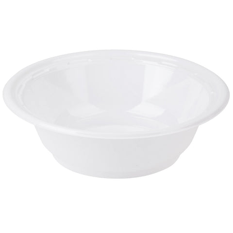 Dart 5 oz. White Plastic Bowl, 125 per package - Thebestpartydeals