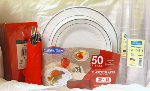 Caterer Choice, Complete Disposable Place setting for 25