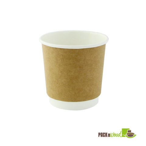 4oz double walled kraft compostable paper cup - 1000 per case - Thebestpartydeals