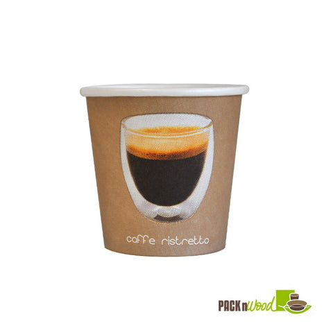 4oz Ristretto paper cup - 1000 per case - Thebestpartydeals