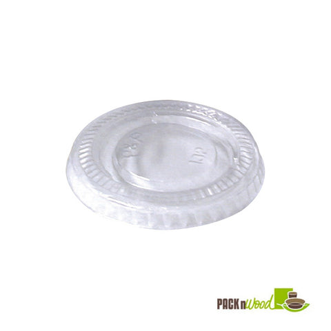 Clear flat lid for 8oz paper cup - 1000 per case - Thebestpartydeals