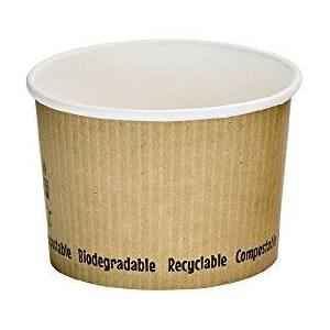 Compostable 16oz soup container - 500 per case - Thebestpartydeals