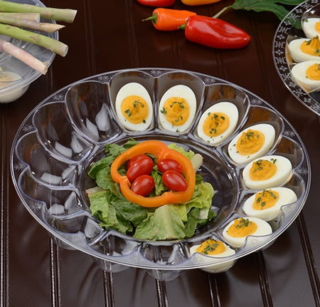 "12"" - 24 Slot Deep Egg Tray - 25 per case - Thebestpartydeals"