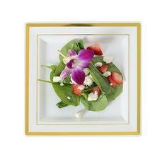 "Square Splendor Plates, 7.25"" Sq. Dessert Plate, 10 per Package"