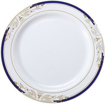 "Signature Blu 7.5"" Salad/Dessert Plate, 10 per package"