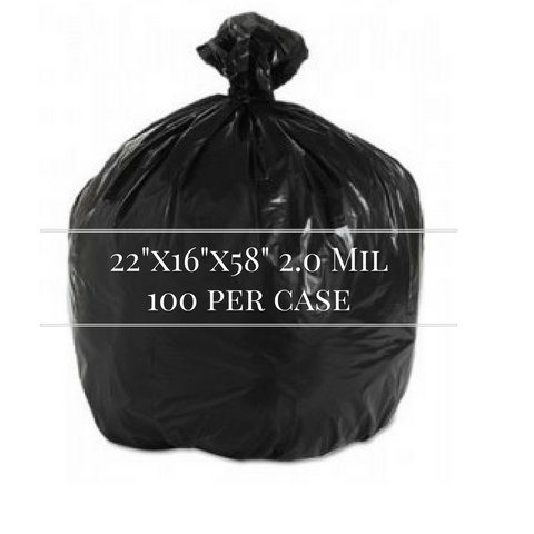 58 2.0 Black Trash Liner, 100 per case - Thebestpartydeals
