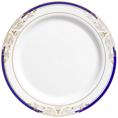 Signature Blu 10.5  Dinner Plate 10 per package  sc 1 st  Thebestpartydeals : gold plastic dinner plates - pezcame.com