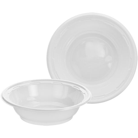 Dart 12 oz. White Plastic Bowl, 125 per package - Thebestpartydeals