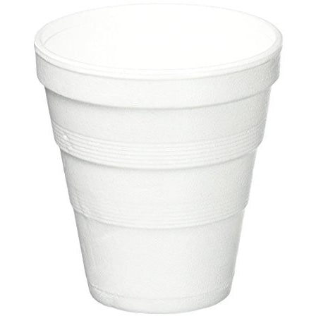 Dart 8.5 oz White Foam Cup, 1200 per case - Thebestpartydeals