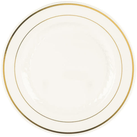 "Silver Splendor 9"" Dinner Plate, 12 per Package - Thebestpartydeals"