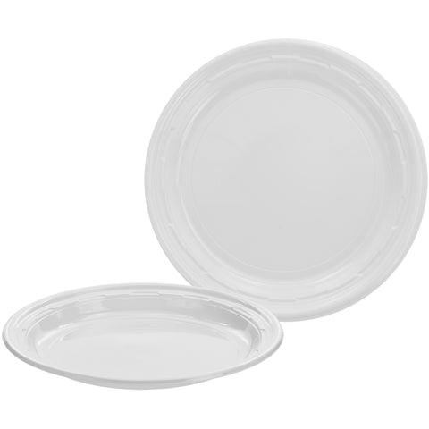 "Dart 7"" White Plastic Plate, 125 per package - Thebestpartydeals"